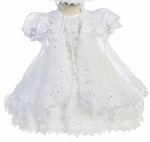Girls Over the Top Fancy Baptism Dress Set
