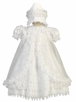 Girls Super Fancy Christening Dress Overlay Set