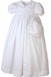 Girls Hand Smocked Christening Gown and Bonnet