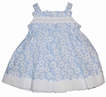 Infant Girls Smocked Floral Print Sun Dress