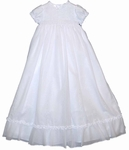 European Girls Christening Gown Fine Heirloom Smocked 12 months