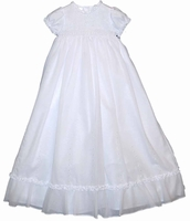A Girls Christening Gown Fine Heirloom Smocked 12 months