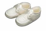 Boys Christening Shoe Silk Ivory Oxford