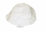 Girls Christening Hat Soft Ivory Fancy Baptism Accessory