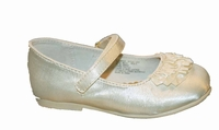 Girls Christening Shoes Ivory Satin Dressy Baptism Shoe 6 or 8