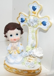 Keepsake Christening Figurine Blue