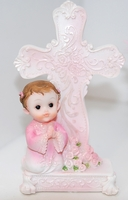 Keepsake Christening Figurine Pink