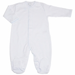 Kissy Unisex Super Soft White Pima Basic Cotton Footie