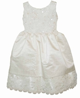 Girls Christening Dresses Royal Fine Silk and Lace & Beading 12/18 months