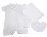 Newborn Baby Boy Christening Outfit Full Set