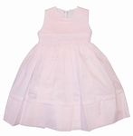Pink Sleeveless Smocked Dress 24m/2T