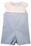 Pique Collar Light Blue Shortalls 24 months