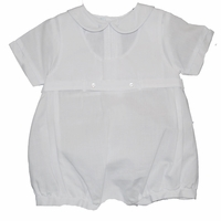 Boys Christening Outfit Romper Overall Baptism Shortalls