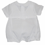 Boys Christening Outfit Romper Overall Baptism Shortalls 6 months