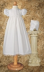 Sweet Simple Christening Gown with Tear-drop Lace