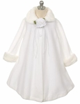 Toddler Girls Baptism Coat Fleece Fancy