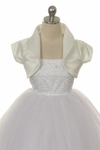 Toddler Girls Baptism Coat Satin Bolero