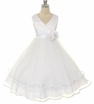 Toddler Girls Baptism Dress Satin Surplice & Tulle
