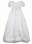 Girls Christening Gown Silk & Beads Simple Isabel 12 months