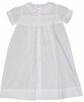 Unisex Christening Gown Simple Newborn Baptism Day Gown