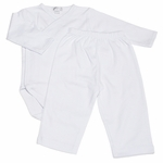 Unisex White Soft Pima Cotton 2-piece Outfit