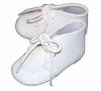 Boys Christening Shoe White Leather Baby Baptism Boot