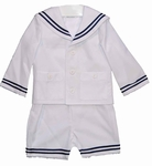 White Sailor Eton Suit Boys 12 months