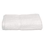 Bath Towels, Royal Hotel, 27x54, 17 Lbs, 100% Cotton, Dobby, Selvege Edges, White