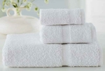 Bath Towels, Wellington Hospitality, 27x56, 17 Lbs, 100% Cotton, Dobby, Hemmed Edges, White