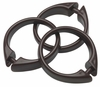 Brown Snap Type Round Plastic Shower Curtain Rings w/Snap Lock - Value Choice