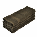Hand Towels, Supreme Spa, 16x30, 4 Lbs, 100% Cotton, Dobby, Hemmed Edges, Chocolate