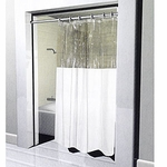 Extra-Long Window Shower Curtains - Heavy 10 Gauge Vinyl - 72x84