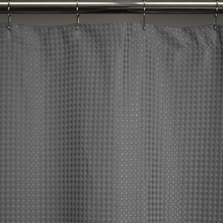 Heavy Weight Fabric Shower Curtains, Extra Long 72x78   Waffle Weave,  Durable, Washable