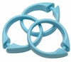Light Blue Snap Type Round Plastic Shower Curtain Rings w/Snap Lock - Value Choice