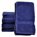 Bath Towels, Supreme Spa, 27x54, 15 Lbs, 100% Cotton, Dobby, Hemmed Edges, Blue