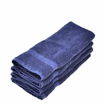 Hand Towels, Supreme Spa, 16x30, 4 Lbs, 100% Cotton, Dobby, Hemmed Edges, Blue