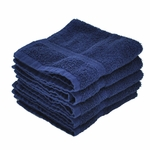 Washcloths, Supreme Spa, 13x13, 1.5 Lbs, 100% Cotton, Dobby, Hemmed Edges, Blue