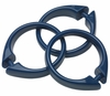 Navy Snap Type Round Plastic Shower Curtain Rings w/Snap Lock - Value Choice