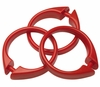 Red Snap Type Round Plastic Shower Curtain Rings w/Snap Lock - Value Choice