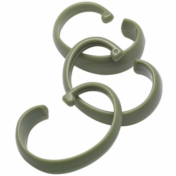 """Sage Green Hang Ease """"C"""" Type Plastic Shower Curtain Hooks - Easy Hang, Value Choice"""