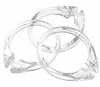 Super Clear Snap Type Round Plastic Shower Curtain Rings w/Snap Lock - Value Choice