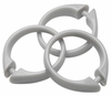 Silver Snap Type Round Plastic Shower Curtain Rings w/Snap Lock - Value Choice