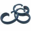 "Slate Blue Hang Ease ""C"" Type Plastic Shower Curtain Hooks - Easy Hang, Value Choice"