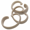 "Tan Linen Hang Ease ""C"" Type Plastic Shower Curtain Hooks - Easy Hang, Value Choice"