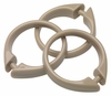 Tan Linen Snap Type Round Plastic Shower Curtain Rings w/Snap Lock - Value Choice