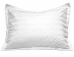 White Stripe Pillow Shams - T-250 Poly/Cotton
