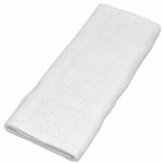 Hand Towels, Royal Hotel, 16x30, 4.5 Lbs, 100% Cotton, Dobby, Selvege Edges, White