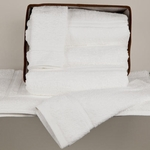 Hand Towels, Royal Hotel, 16x30, 4.5 Lbs, 100% Ring-Spun Cotton, Dobby Border, White