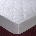 Economy Choice Wholesale Fitted Mattress Pads - Polyester - 5 oz. Fill