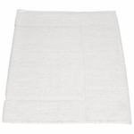 Bath Mats, Royal Hotel, 20x34, 10 Lbs, 100% Cotton, Dobby, Selvege Edge, White